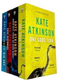 Jackson Brodie Series 4 Books Collection Set By Kate Atkinson (Case Histories, When Will There be Good News?, Big Sky, One Good Turn)